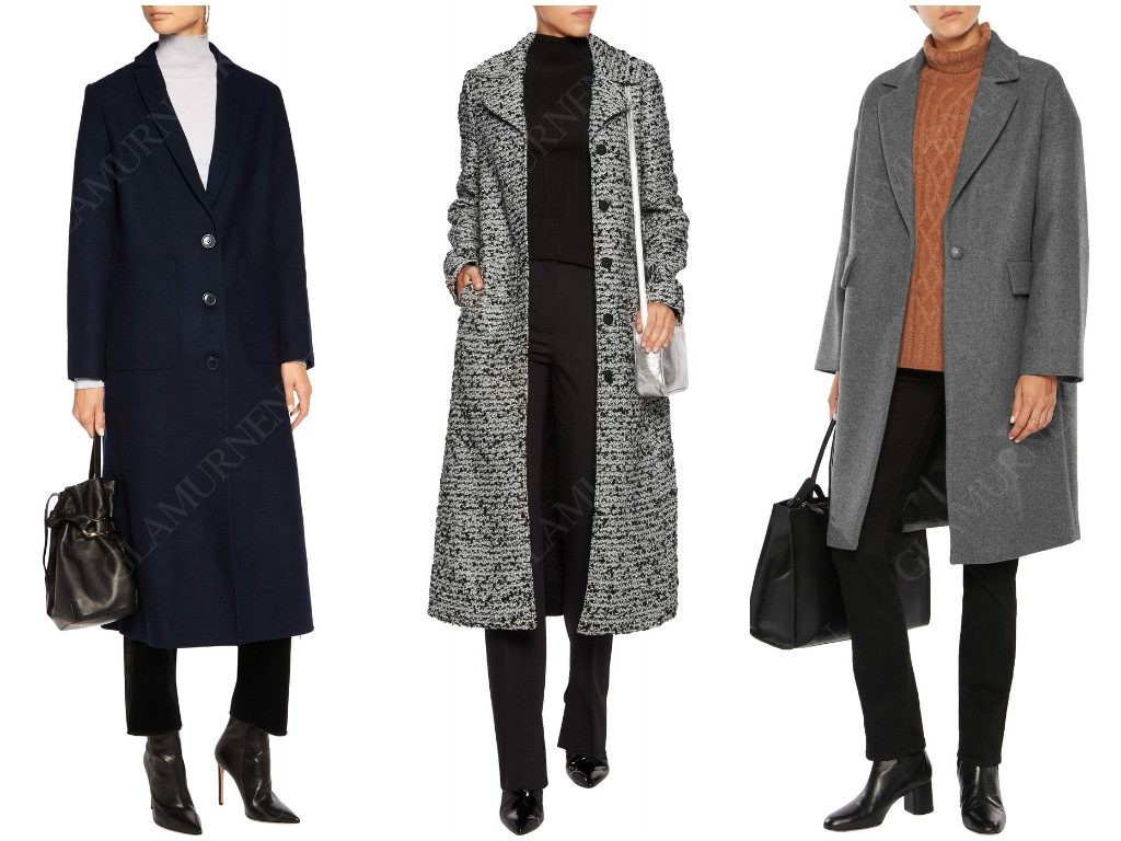 Как выглядит однобортное пальто?