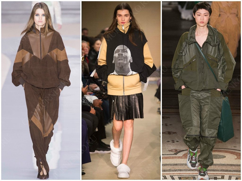 Несколько примеров спортивной одежды от Chloé, Public School, Stella McCartney