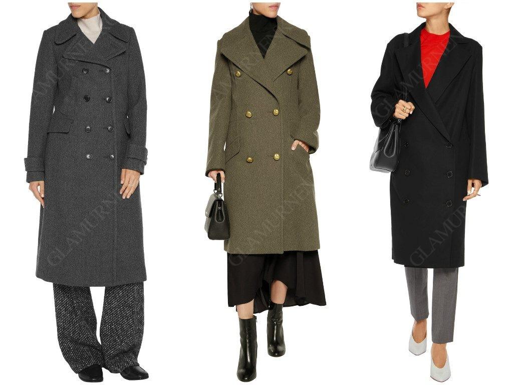 Как выглядит двубортное пальто?