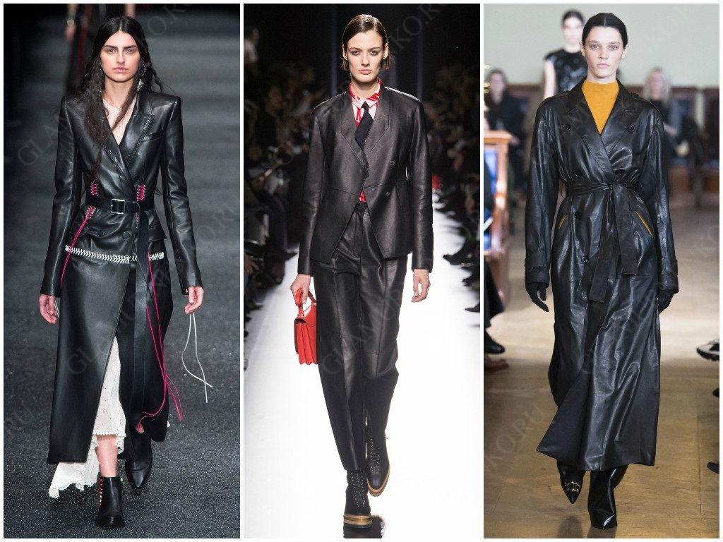 Демонстрация вариантов стиля матрица от Alexander McQueen, Hermès, Olivier Theyskens