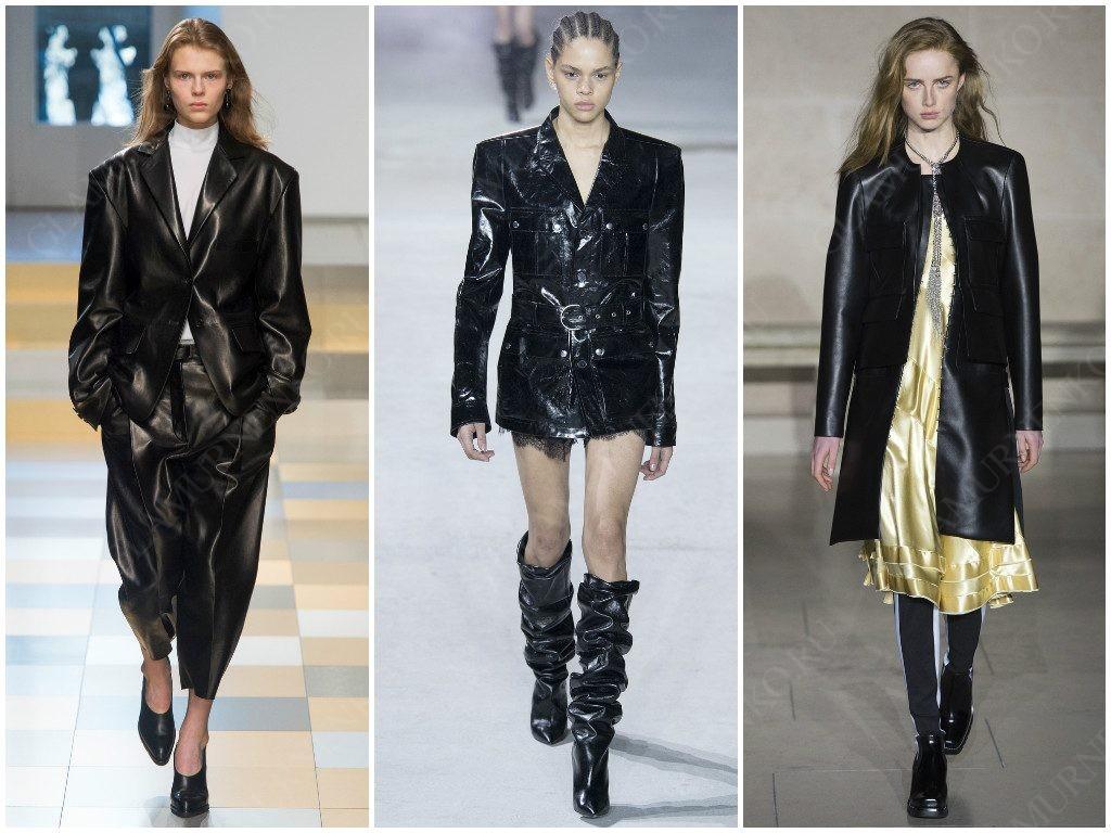Модные примеры стиля-матрица представленные Jil Sander, Saint Laurent, Louis Vuitton