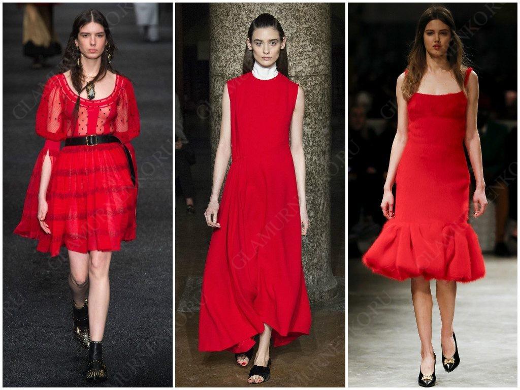 Alexander McQueen, Emilia Wickstead, Prada показали варианты красного