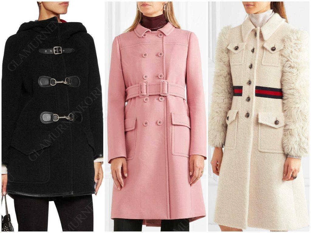 Как выглядит пальто с накладными карманами?