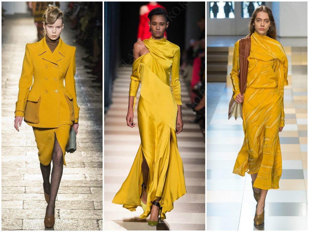 Желтые цвета в модных трендах от Bottega Veneta, Monse, Jil Sander