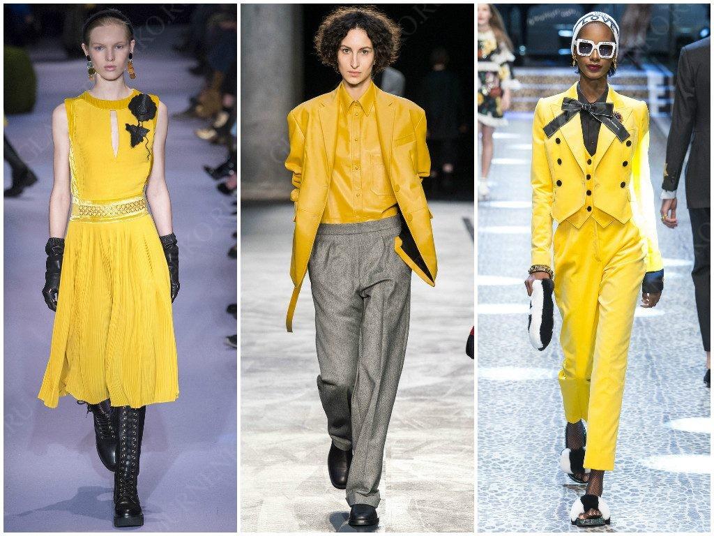 Altuzarra, Neil Barrett, Dolce & Gabbana показывают свои варианты желтого для сезона 2017-2018
