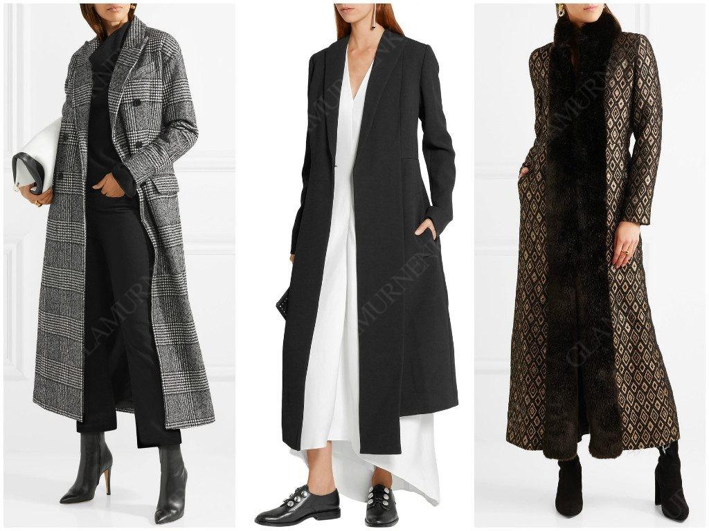 Варианты длинного пальто