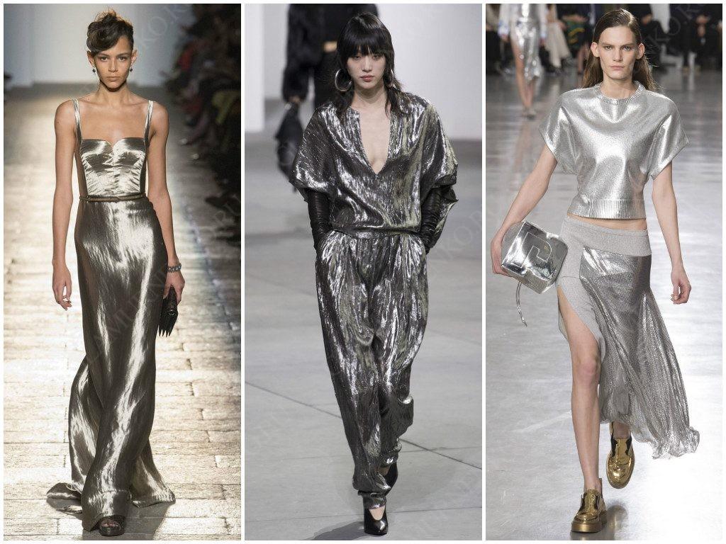 Показали серебро в своих трендах Bottega Veneta, Michael Kors Collection, Paco Rabanne