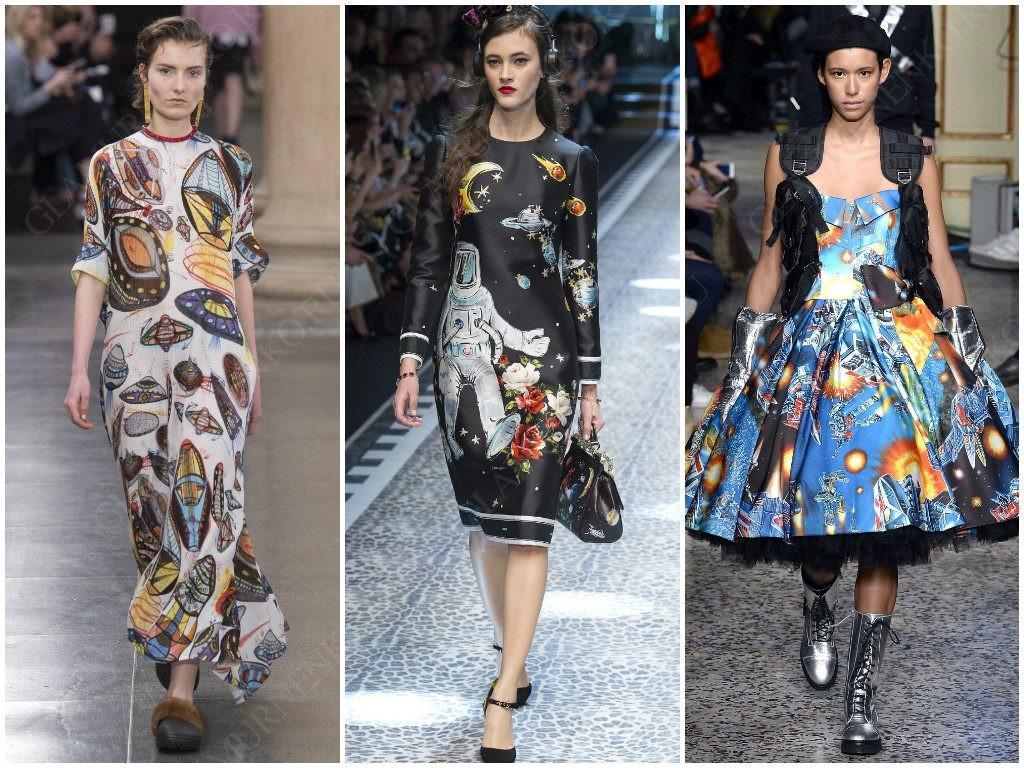 Космические фантазии показали Christopher Kane, Dolce & Gabbana, Moschino