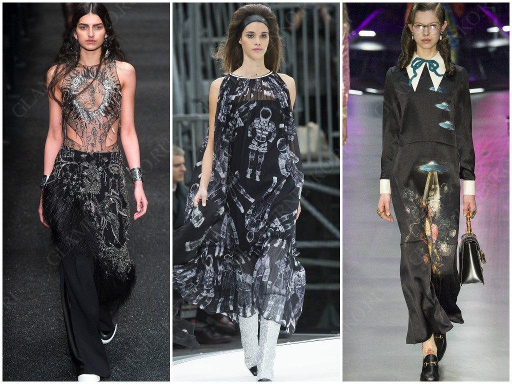 Космические просторы в трендах от Alexander McQueen, Chanel, Gucci