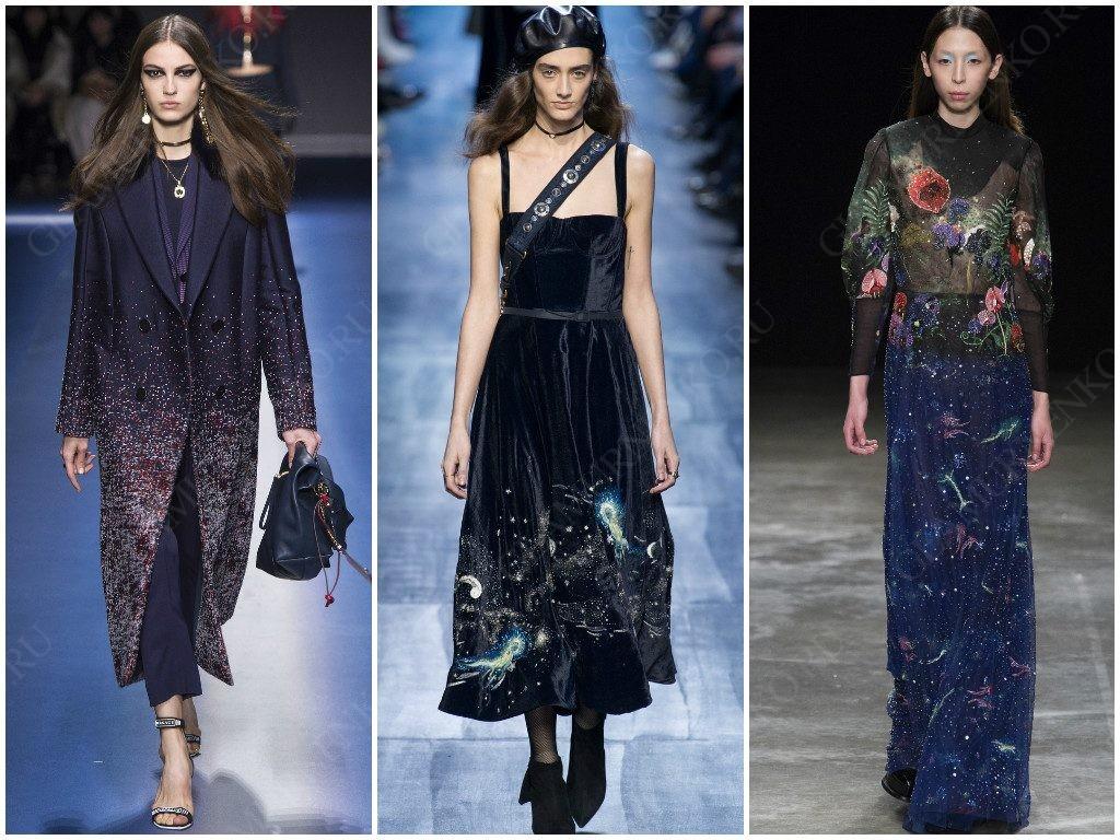 Космос в вариациях от Versace, Christian Dior, Mary Katrantzou