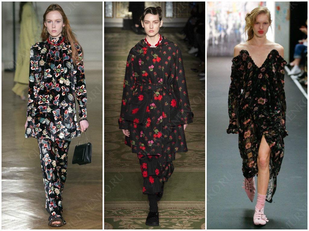 Valentino, Simone Rocha, Preen представили варианты в трендах осенних цветов