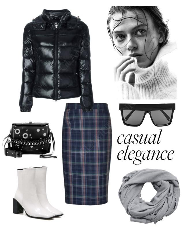 Как модно стилизовать чёрный пуховик