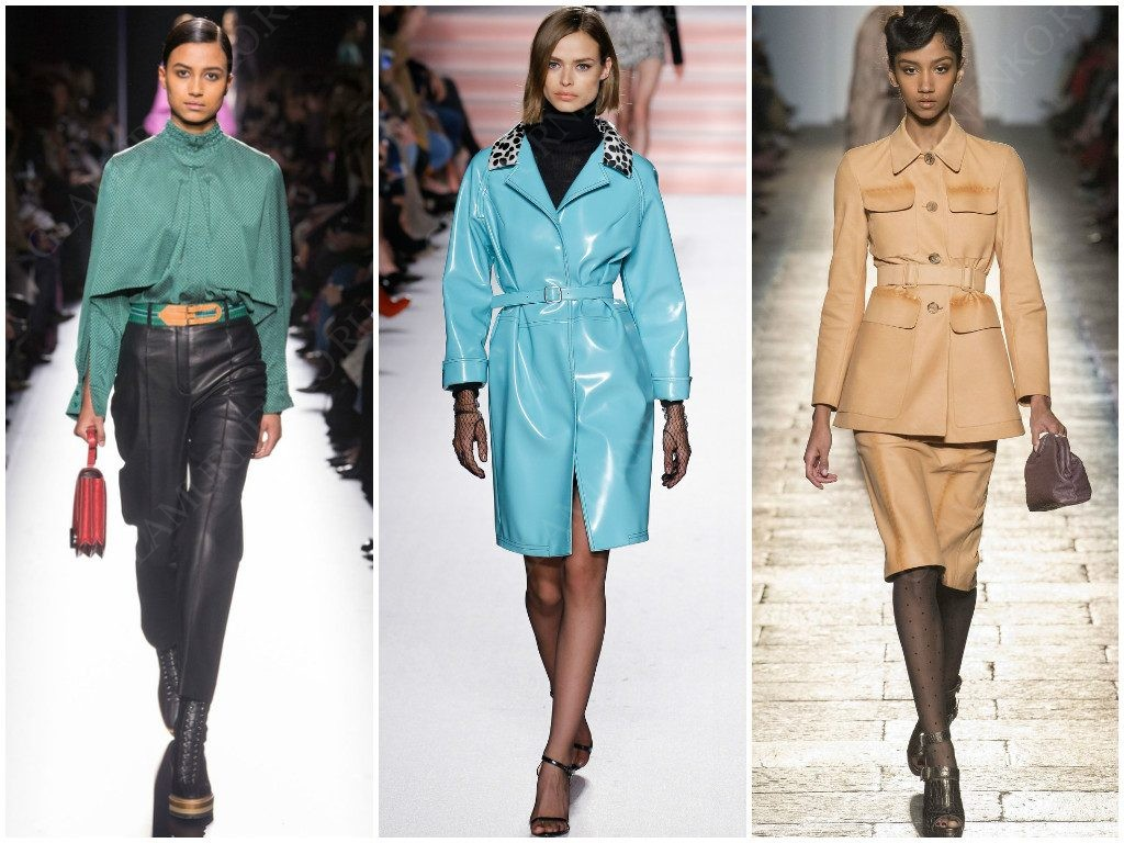 Кожа в трендах сезона Hermès, Philosophy di Lorenzo Serafini, Bottega Veneta