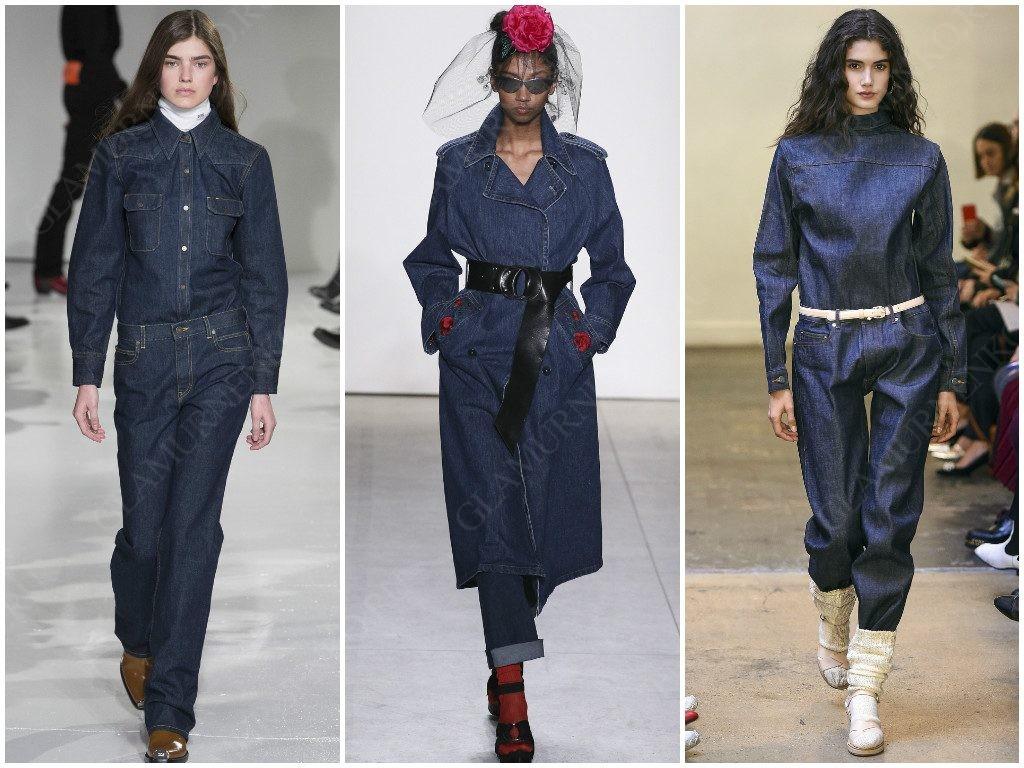 Джинс продолжает быть завсегдаем у Calvin Klein, Adam Selman, A.P.C.