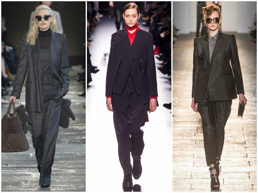 Примеры деловой моды от Max Mara, Hermès, Bottega Veneta