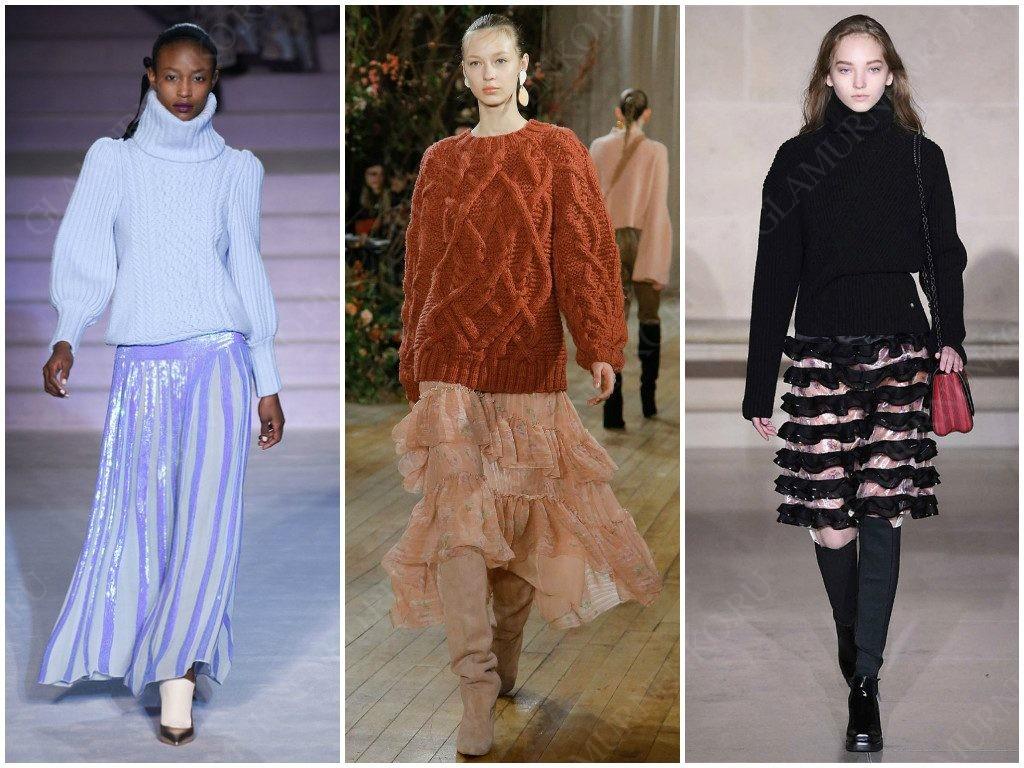 Temperley London, Ulla Johnson, Louis Vuitton используют вязаный трикотаж в этом сезоне