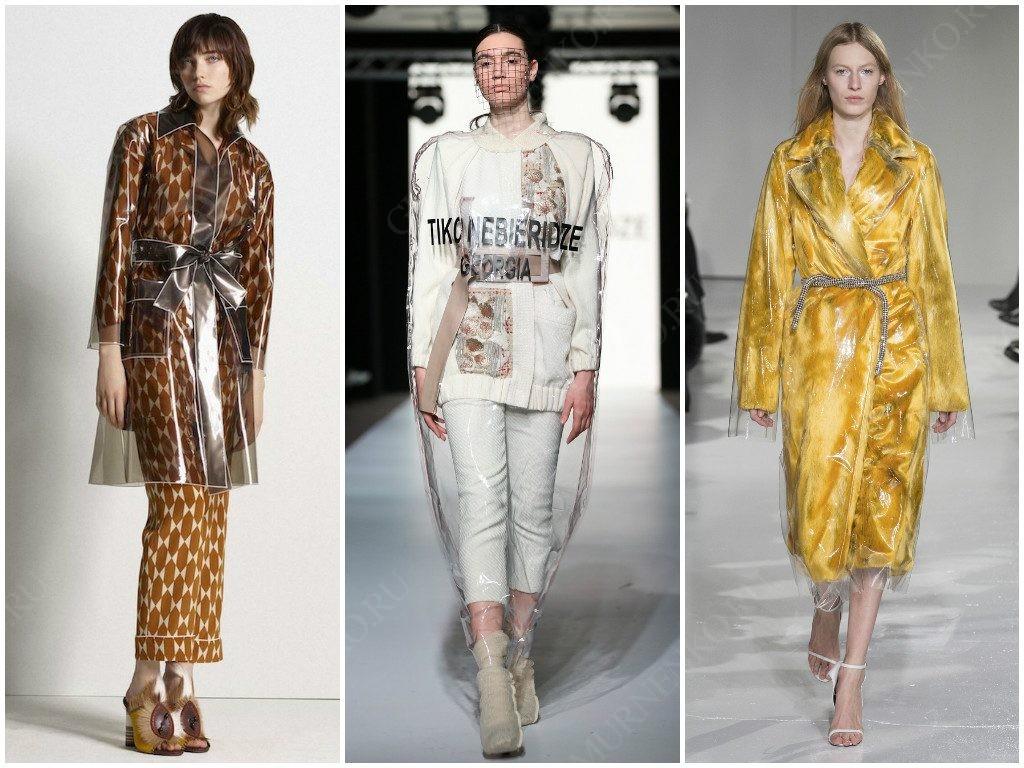 Tory Burch, Tiko Nebieridze, Calvin Klein показали свои варианты пластика на сезон