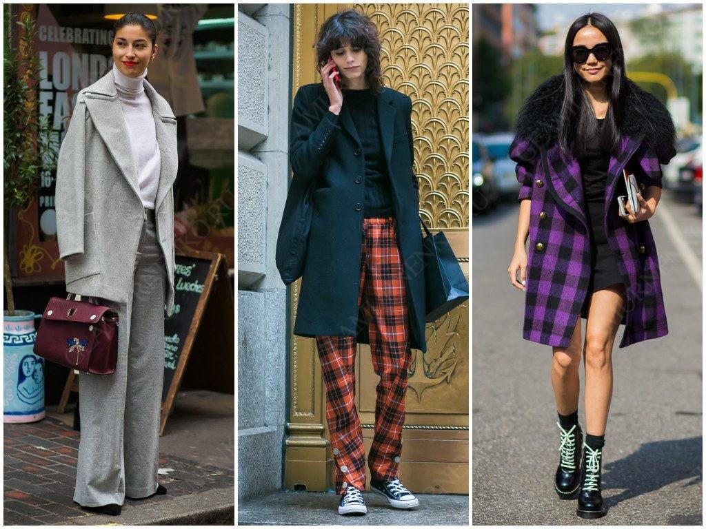 Примеры коротких пальто уличной моды