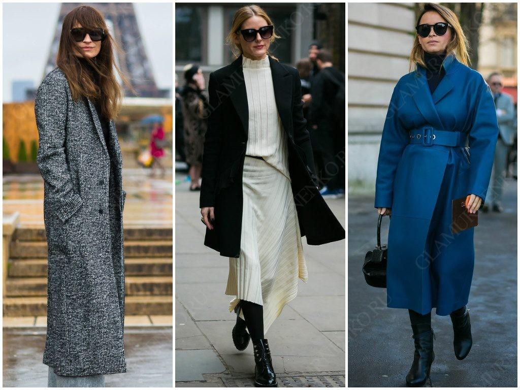 Стильные модели пальто для уличной моды