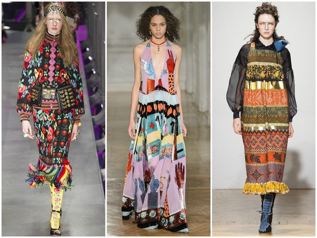 Примеры от Gucci, Valentino, Stella Jean фолк стиля
