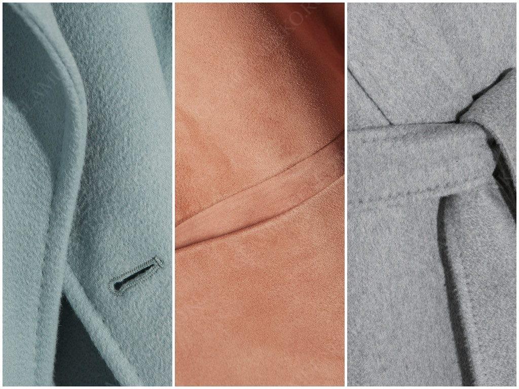 Пример качественных швов в хорошем пальто.