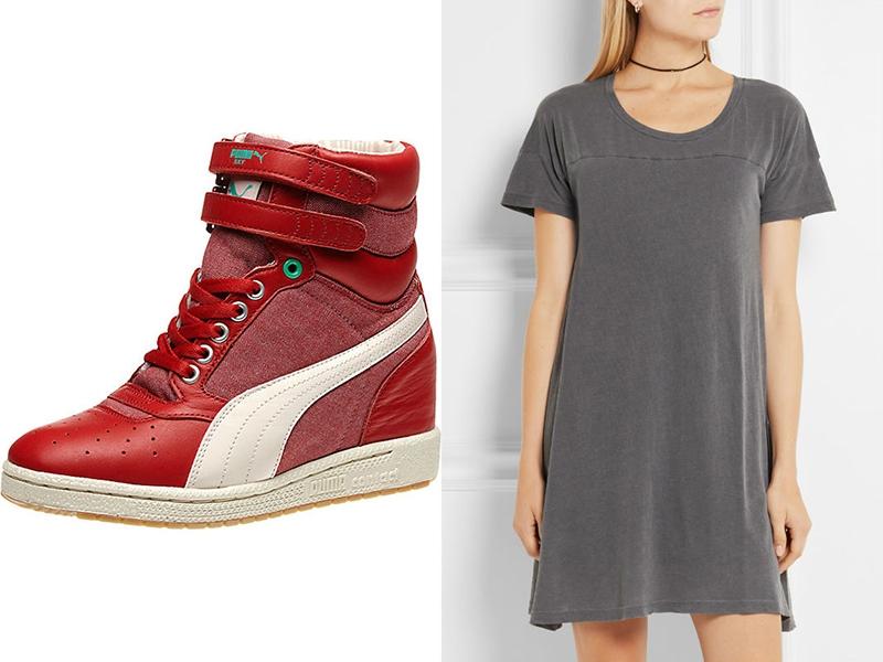 Красно-серый дует - модная новинка сезона.