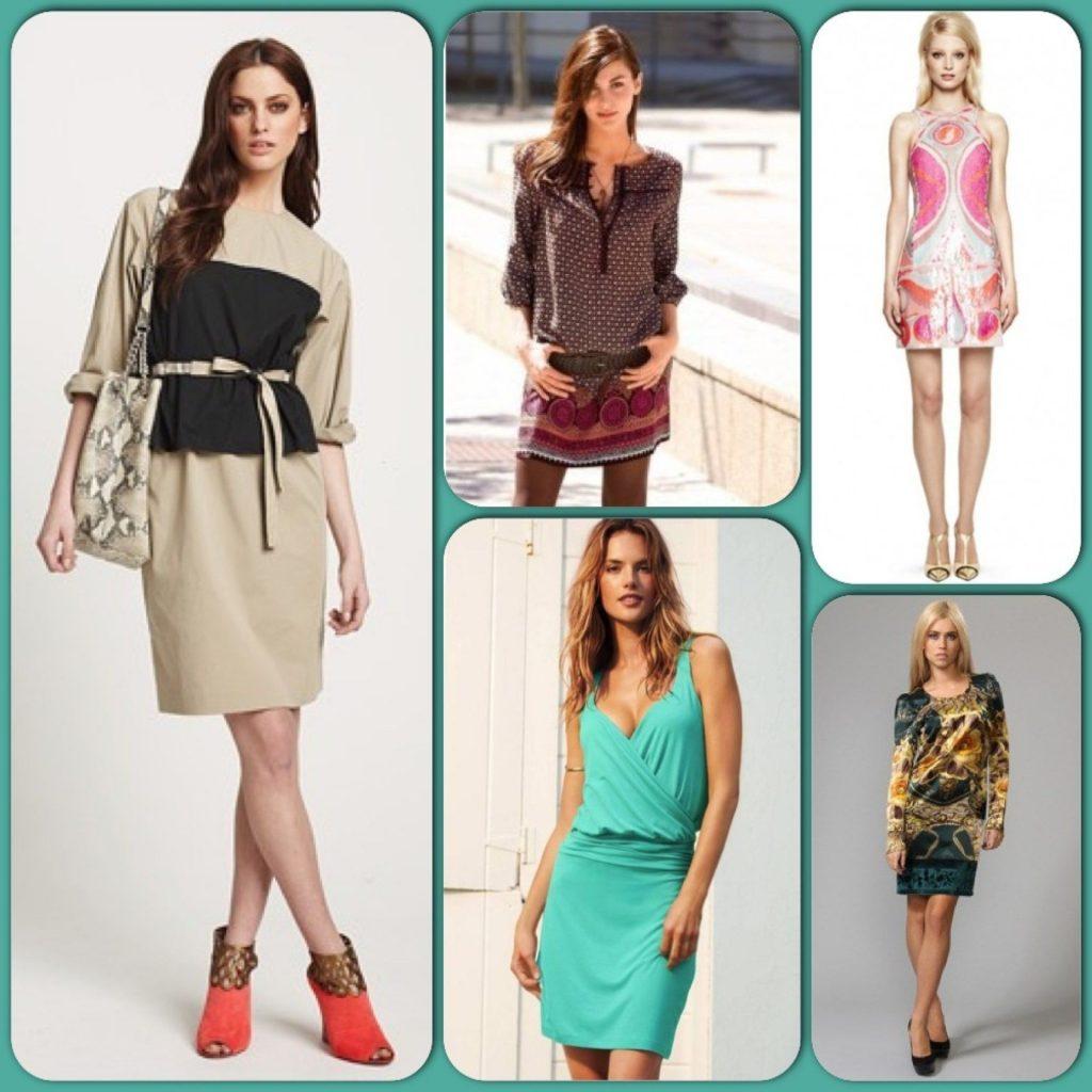 Главное достоинство фигуры «прямоугольник» - красивые стройные ноги, которые необходимо подчеркивать платьями и юбками мини