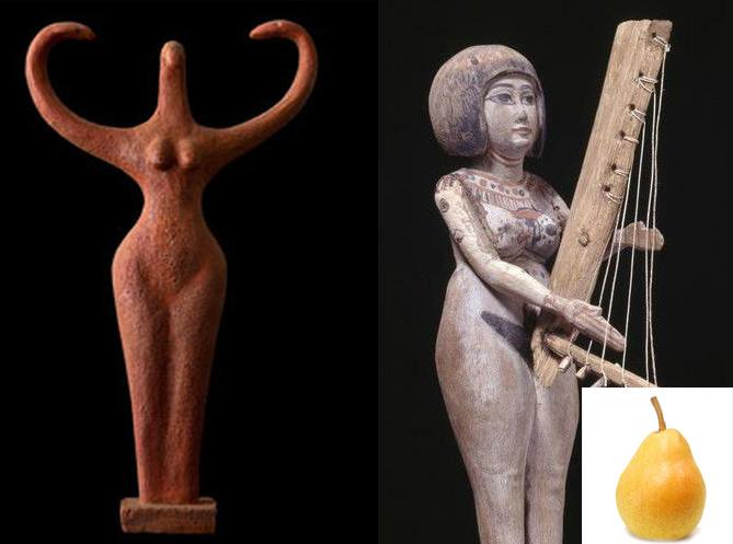 Древнеегипетский идеал женской красоты – широкобедрая «груша»