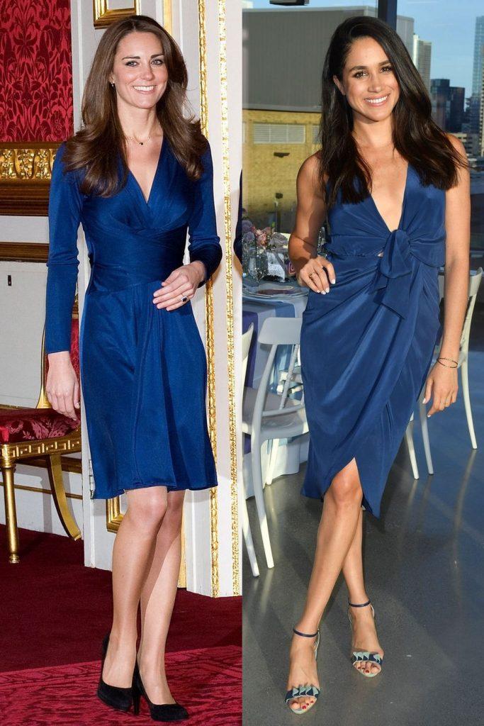 Представительницы королевской семьи Великобритании Кейт Миддлтон и Меган Маркл – обладательницы фигур Т-силуэта