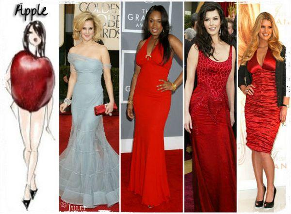 Среди знаменитостей достаточно женщин, имеющих фигуру «яблоко»