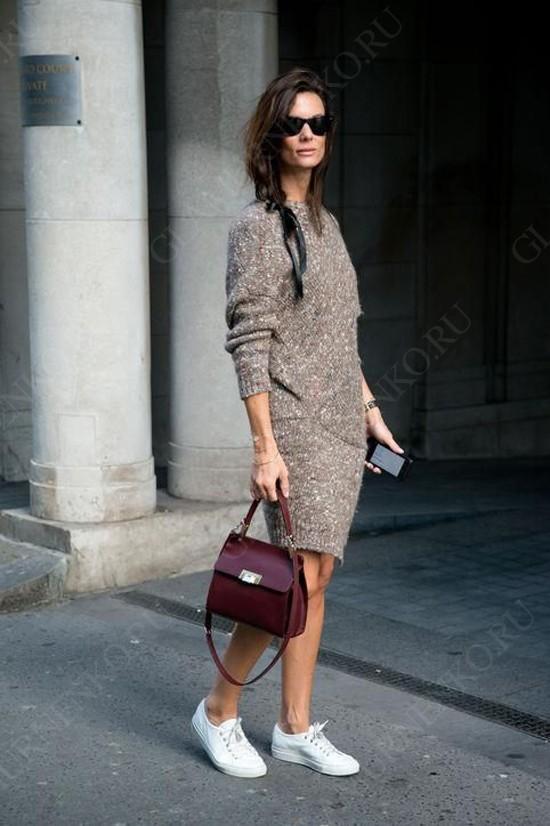 пример с вязаным платьем