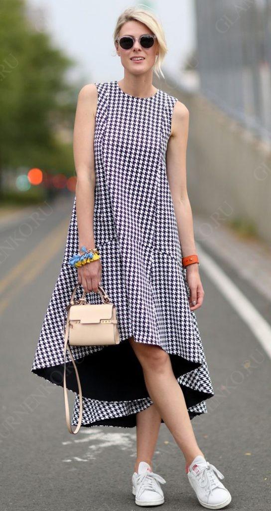 пример с ассиметричным платьем