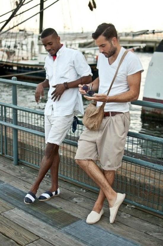 С чем носить мужские эспадрильи?