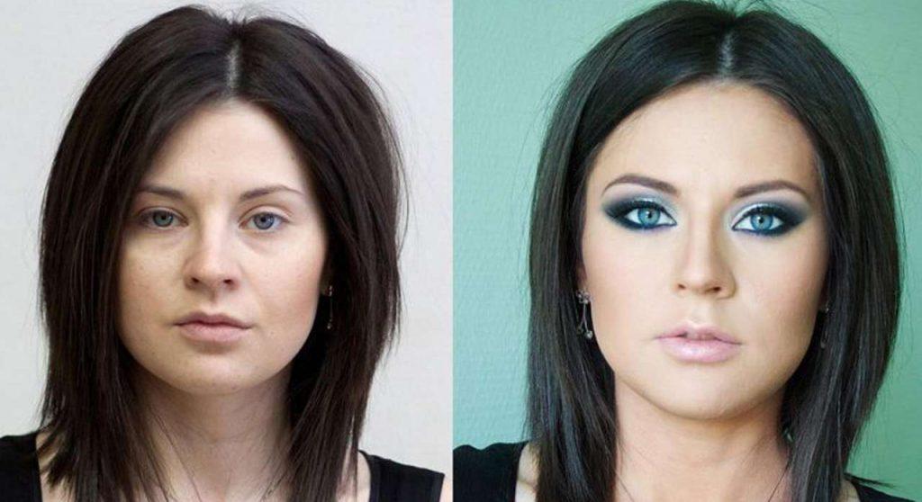 При правильном макияже насыщенные тени расширяются от внутреннего уголка глаза к внешнему