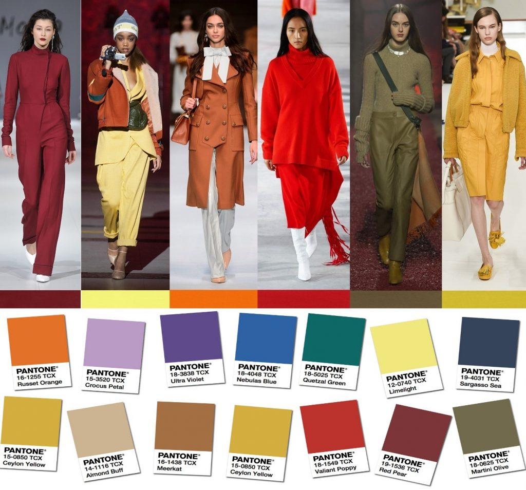 Модные цвета сезона осень-зима 2018-2019