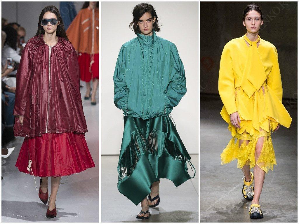 Цвет монохром от Calvin Klein, Dion Lee, Christopher Kane