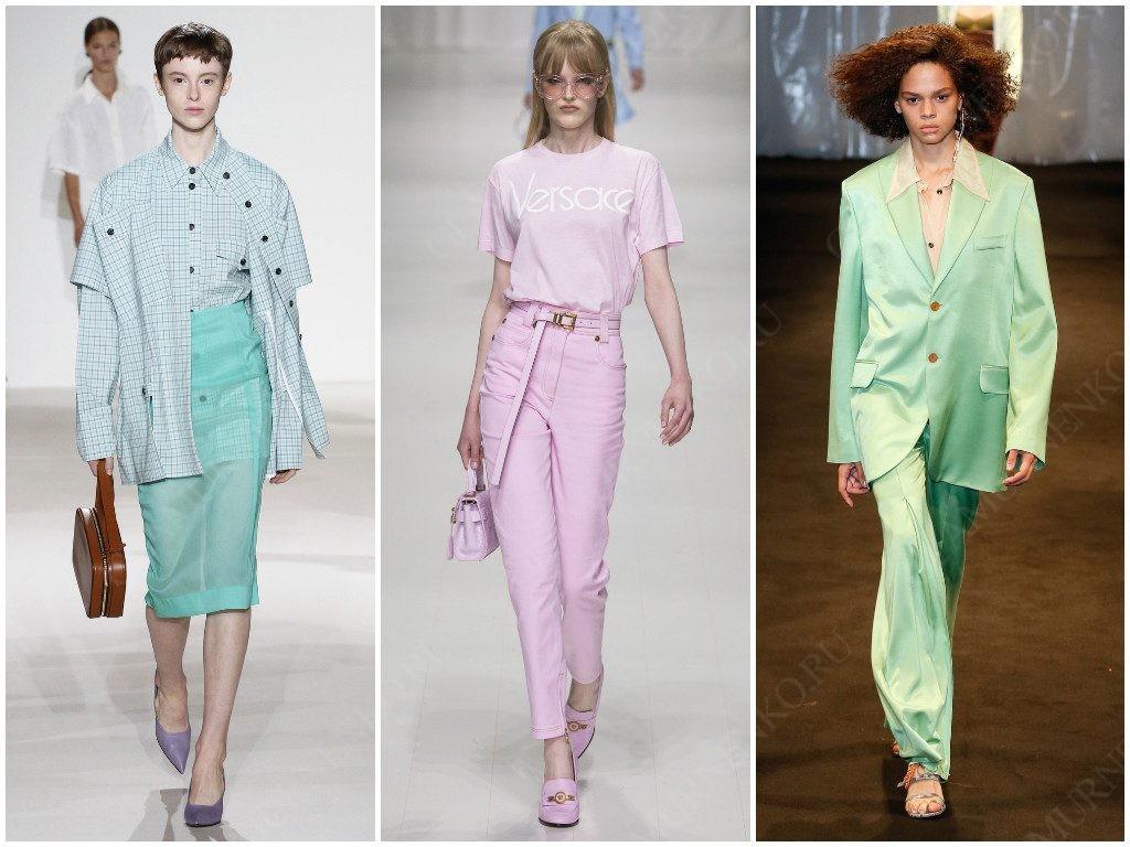 Цвет пастель от Victoria Beckham, Versace, Acne Studios