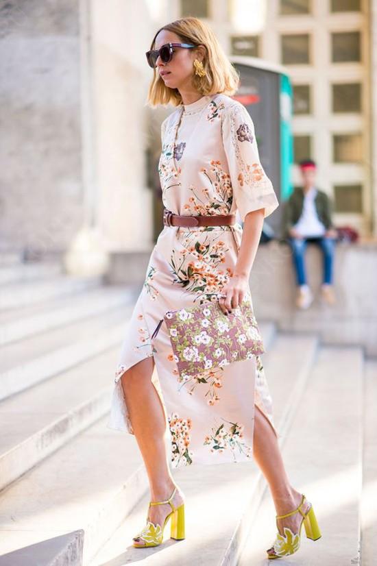 пример платье с принтом