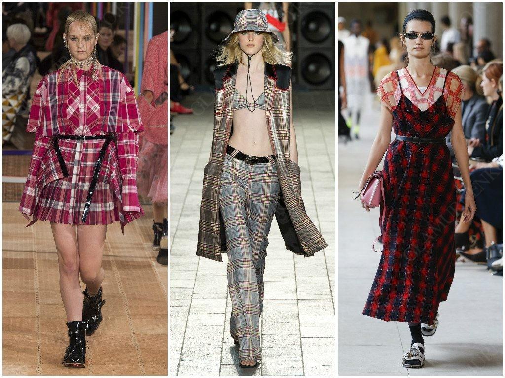 Клетка от Alexander McQueen, Versus Versace, Miu Miu