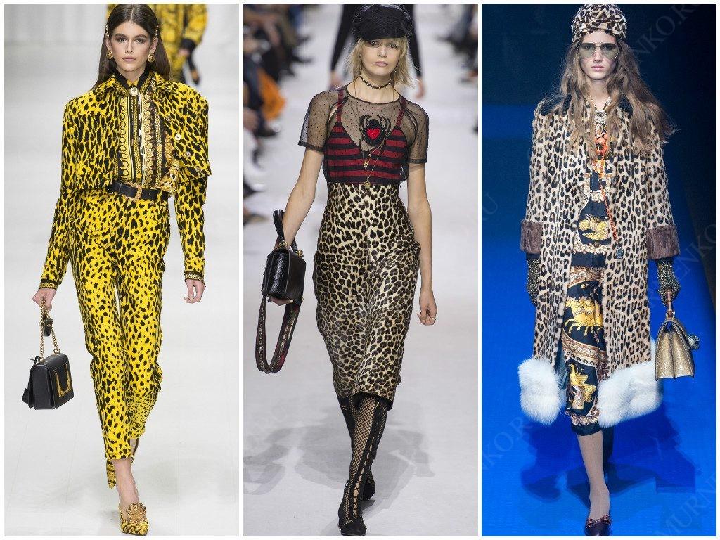 Анималистичный принт от Versace, Christian Dior, Gucci