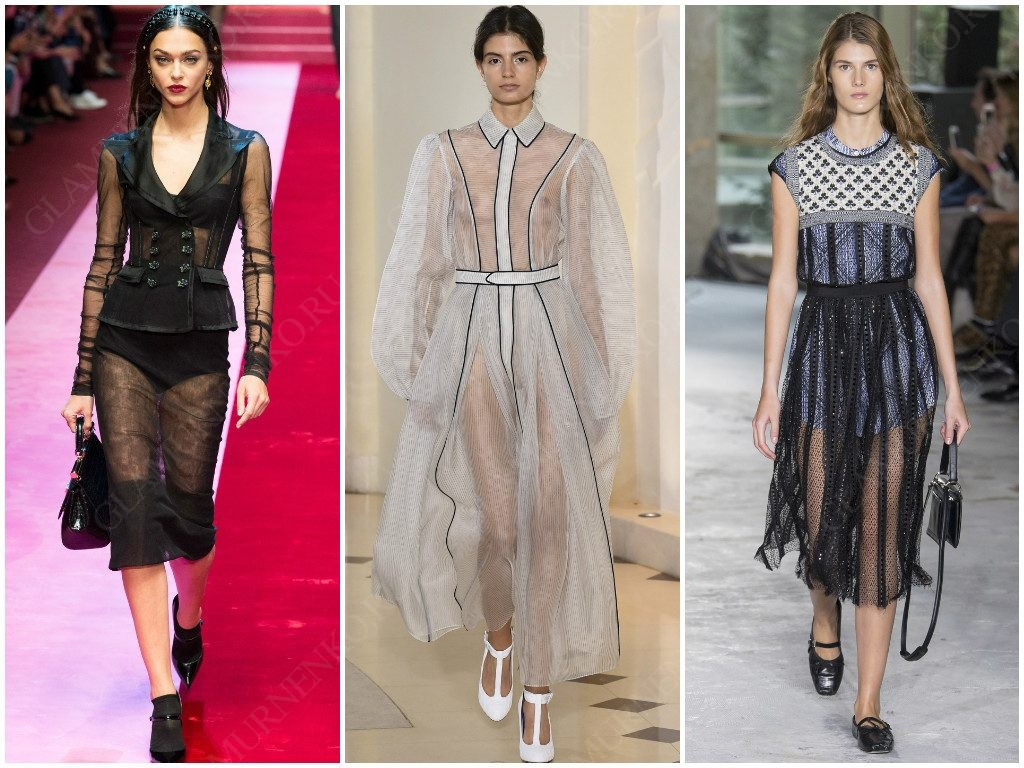Прозрачность от Dolce & Gabbana, Emilia Wickstead, Giambattista Valli