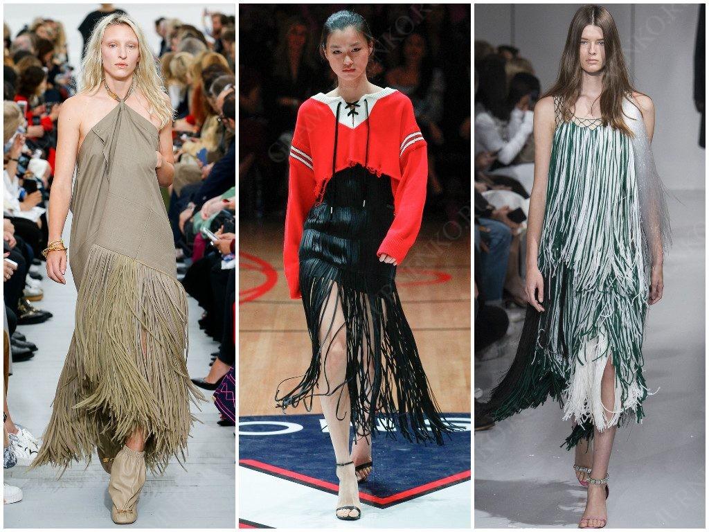 Бахрома от Céline, Monse, Calvin Klein