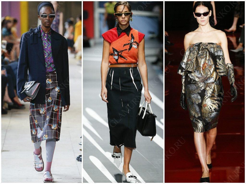 Узкие солнцезащитные очки от Miu Miu, Prada, Rochas