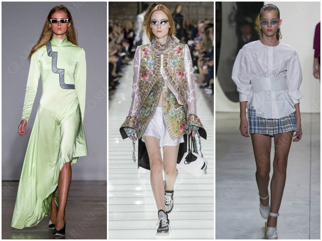 Узкие солнцезащитные очки от Cristiano Burani, Louis Vuitton, Prabal Gurung