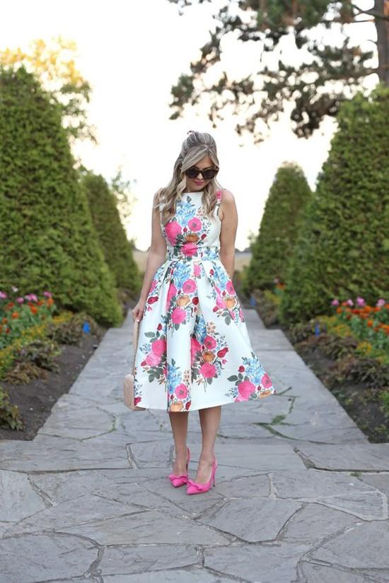 пример платья с принтом