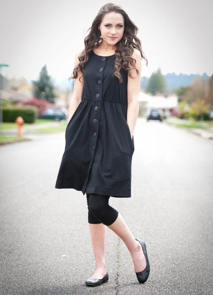 Кожаные черные балетки – вариант дополнения ансамблей в стиле кэжуал
