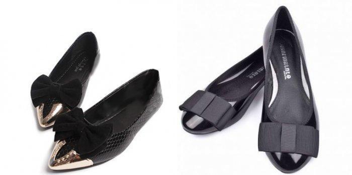 Классические черные балетки – вариант для торжественных выходов и деловых встреч