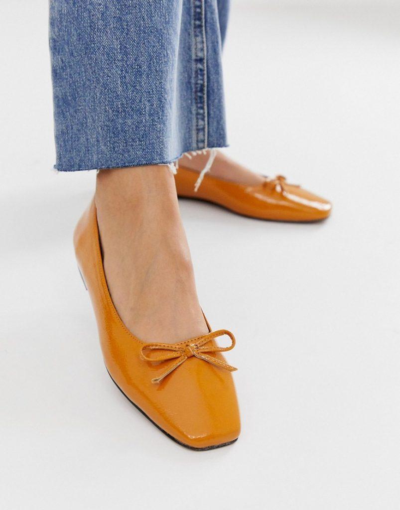 Балетки с квадратным носком – снова на пике популярности