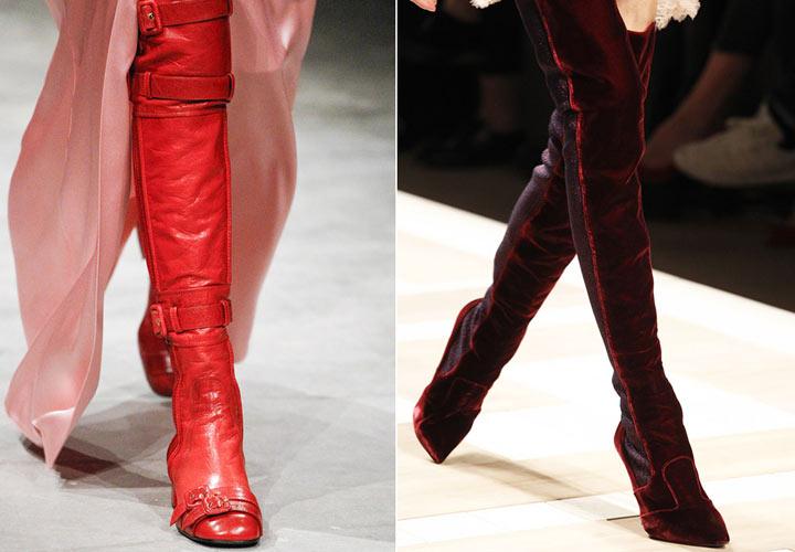 Ботфорты имеют множество разновидностей, которые различаются в том числе по форме носка и могут иметь его острый и закругленный