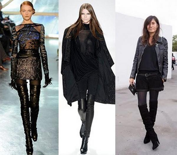 Черные ботфорты лаковые, замшевые или кожаные – лучший выбор для создания образов для особых случаев и на каждый день